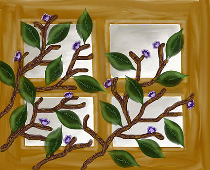 Window with tree branch by Devika Agarwal