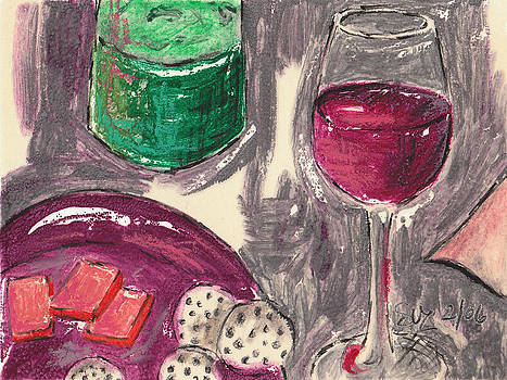 Wine and Cheese by Suzanne Blender