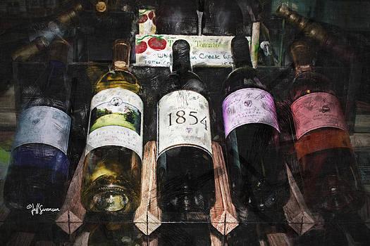 Wine Bottles by Jeff Swanson