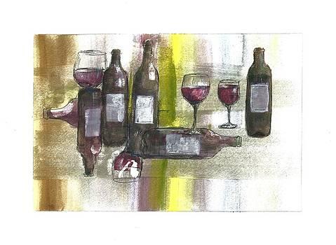 Wine Collage  by Jim  Romeo