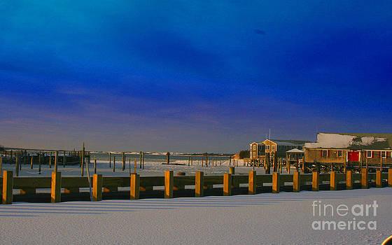 Winter At Barnstable Harbor by Louis Sarkas