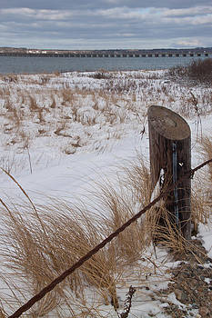 Winter At Duxbury Beach by Susan OBrien