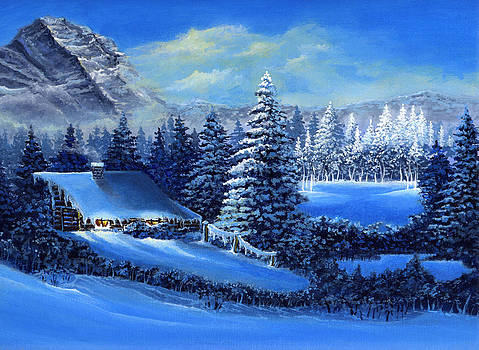 Winter Cabin by Bonnie Cook