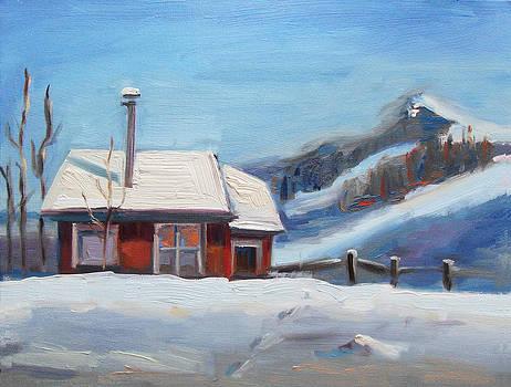 Winter Cabin by Brandy Cattoor