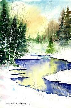 Winter Creek by Steven W Schultz