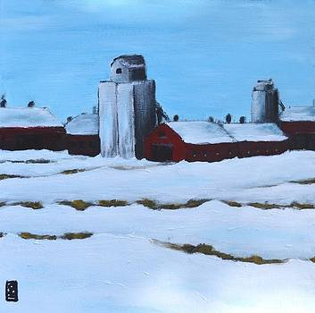 Winter Grain Elevator by Holly Donohoe