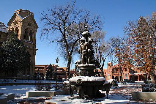 Elizabeth Rose - Winter in Cathedral Park Santa Fe