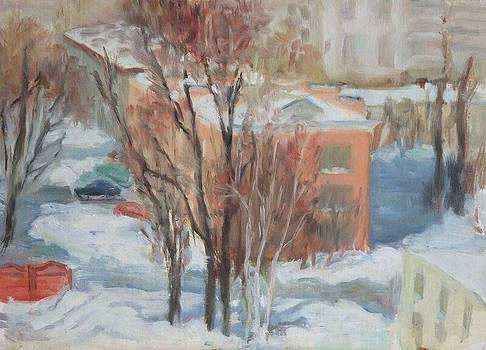 Winter in suburb by Olga Suvorova