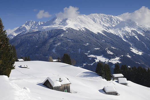 Winter landscape in the mountains by Matthias Hauser