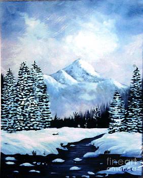Winter Mountains by Phyllis Kaltenbach