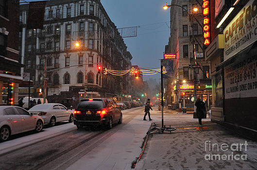 Winter Night on Mulberry Street by Ed Rooney