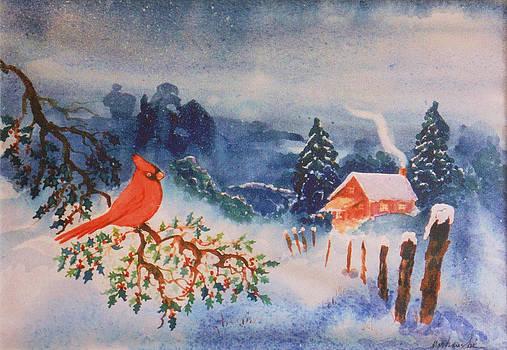Winter Red Bird by Aileen Markowski