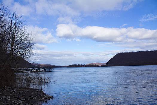 Winter River - The Susquehanna by Bridget Finn