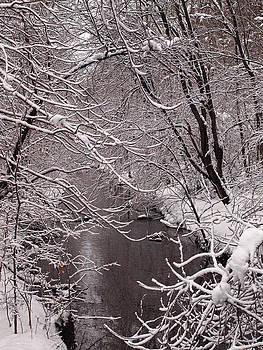 Winter Scene at a Bridge by Yves Pelletier