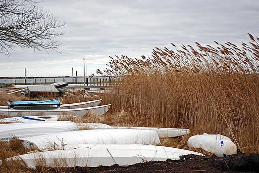 Harvey Barrison - Winter Sky - Resting Boats