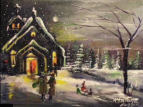 Winter Snow Church  by Khatuna Buzzell