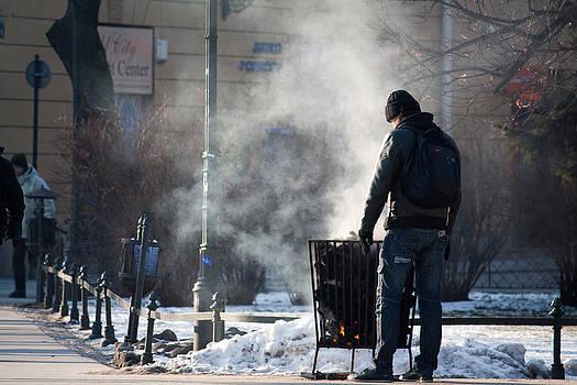 Winter Street by Jacek Nazim
