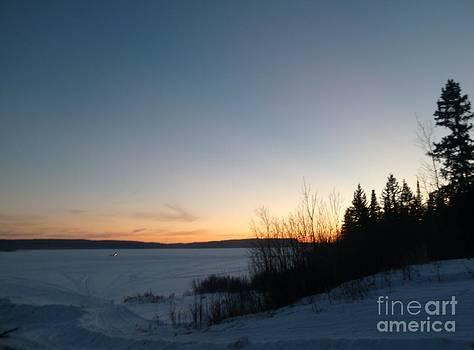 Art Studio - Winter Sunset - Whitefish Lake