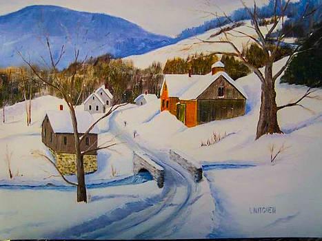 Wintery Lane by Gordon H Rohrbaugh Jr