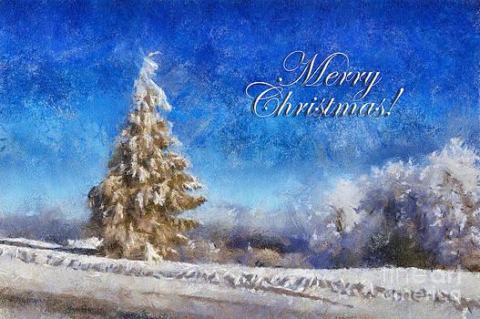 Lois Bryan - Wintry Christmas Tree Greeting Card