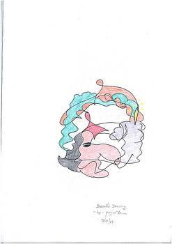 Witch Doodle Art by Priya Arun