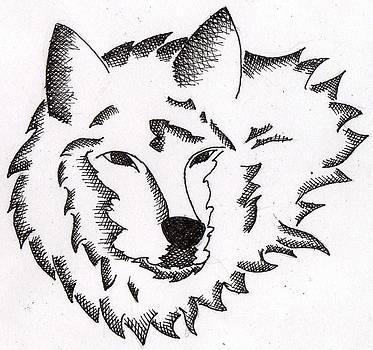 Wolf Tattoo by Ernestas Aglinskas