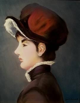 Woman in a Velvet Hat by Joan Garverick