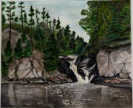 Joan Pye - Woman River Falls