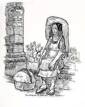 Woman Vendor by Aileen Markowski