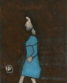 Woman walking by Peter  McPartlin