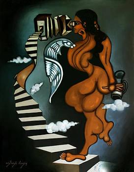 Woman With Paradoxical Binocular by Ashish Das
