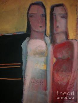 Women In A Street by Khalid Alaani