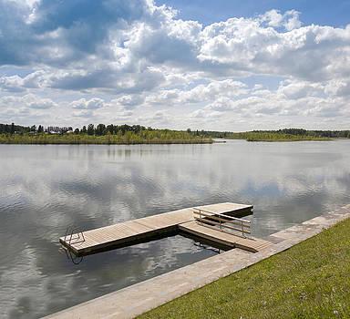 Wooden Boardwalk By Porkuni Lake by Jaak Nilson