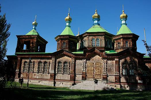 Wooden orthodox church by Frederic Vigne