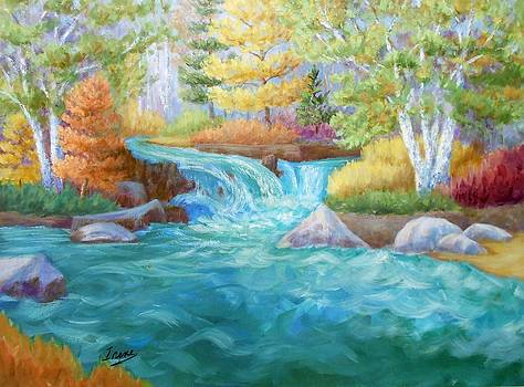 Woodland Stream by Irene Hurdle