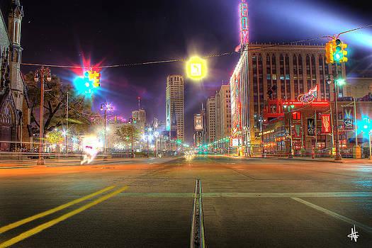 Woodward Ave Detroit MI by Nicholas  Grunas