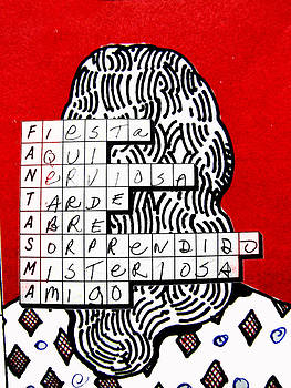 Word Puzzle with Back of Head by Richard Huntington