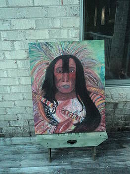 Anne-Elizabeth Whiteway - Work in Progress Native American Chief