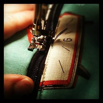 Working On Some Top Stitching by Fern Fiddlehead