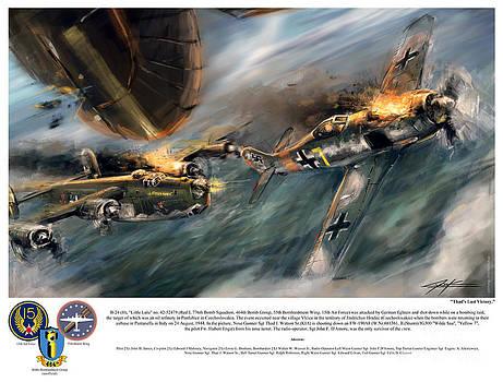 World War 2 B24 Little Lulu Thads Last Victory by Ondrej Soukup