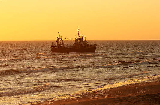 Wreck at Namibian coast by Michal Cerny