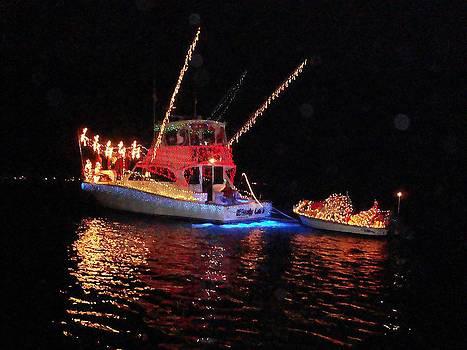 Wrightsville Beach Flotilla by Joan Meyland