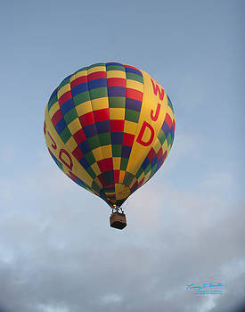 WWJD balloon rising by Torrey E Smith