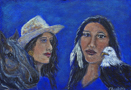 Wynonna and Onawa The Feminine Power and Wisdom Unite by The Art With A Heart By Charlotte Phillips