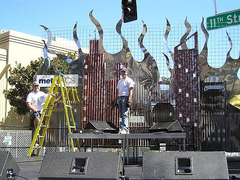 Xfest Modesto Ca. Stage by Steve Mudge