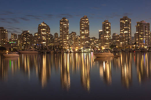 Yaletown at night by Mirco Millaire