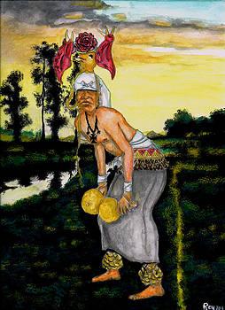Yaqui Deer Dancer by Ray Obregon