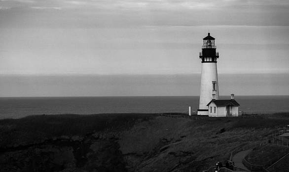 Yaquina Head Lighthouse by Les Abeyta