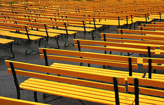 Yellow Benches by Rick Jack