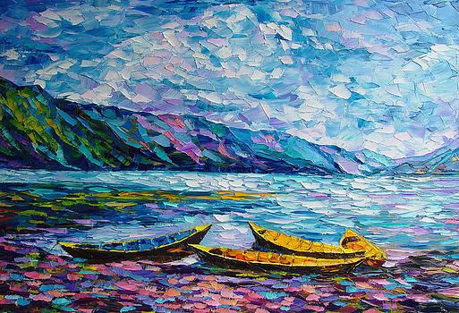 Yellow Boats by Keren Gorzhaltsan
